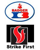 Badger and Strike First logos